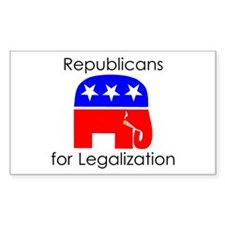 Republicans for Legalization Rectangle Decal