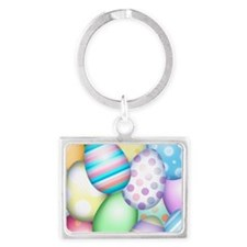 Decorated Eggs Landscape Keychain