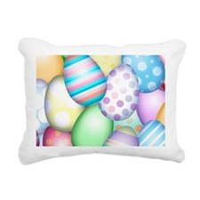 Decorated Eggs Rectangular Canvas Pillow