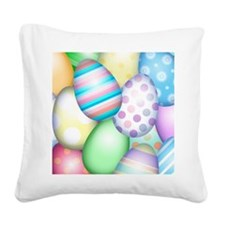 Decorated Eggs Square Canvas Pillow