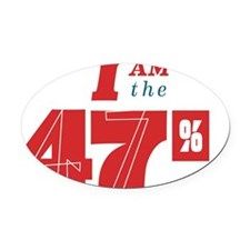 I am the 47% Oval Car Magnet