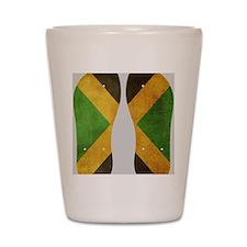 Jamaica Flag Flip Flops Shot Glass