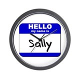 hello my name is sally  Wall Clock