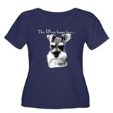 Std. Schnauzer Happy Face Women's Plus Size Scoop