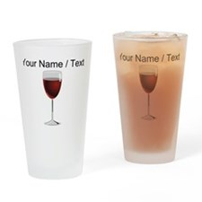Custom Glass Of Red Wine Drinking Glass