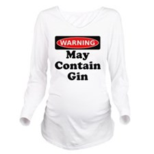 Warning May Contain  Long Sleeve Maternity T-Shirt
