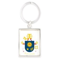 Pope Francis coat of Arms Portrait Keychain