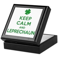 Keep Calm and Leprechaun Keepsake Box