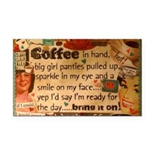 Coffee Love Rectangle Car Magnet