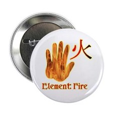 "Fire Element 2.25"" Button (10 pack)"