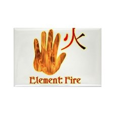 Fire Element Rectangle Magnet (10 pack)
