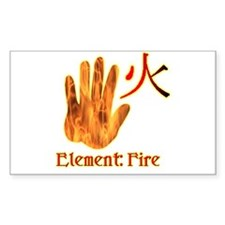 Fire Element Rectangle Decal