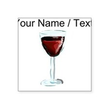 Custom Glass Of Red Wine Sticker