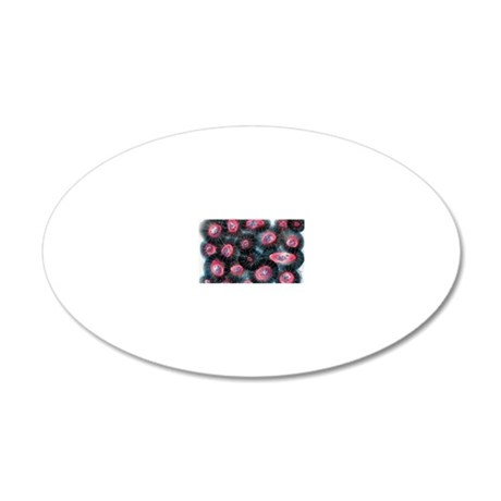 Jellybean Cells 20x12 Oval Wall Decal