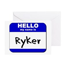 hello my name is ryker  Greeting Cards (Package of