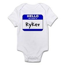 hello my name is ryker  Infant Bodysuit