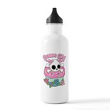Sweet Girl Skull Water Bottle