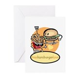 hamburger.fries Greeting Cards (Pk of 10)
