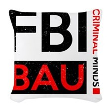 FBI BAU Woven Throw Pillow