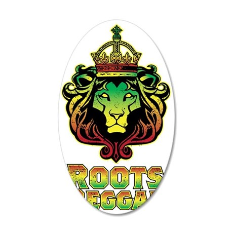 Roots Reggae Lion 35x21 Oval Wall Decal