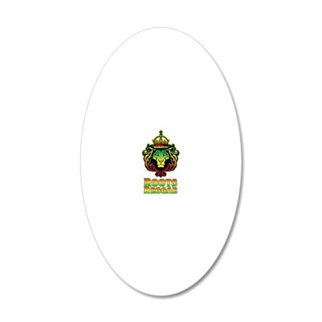 Roots Reggae Lion 20x12 Oval Wall Decal