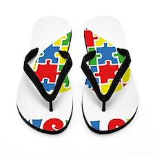 autismAwarenHeartAware1B Flip Flops