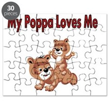 My Poppa  Loves Me with 2 bears Puzzle