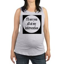 interventionbutton Maternity Tank Top