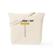 Custom Wine Corkscrew Tote Bag