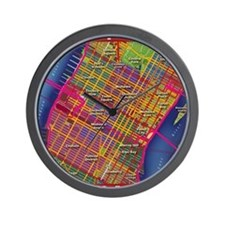 Midtown Manhattan Map Wall Clock