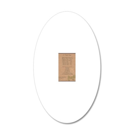 Pope Francis St. Francis SIM 20x12 Oval Wall Decal