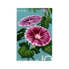 Vintage 1961 Japan Morning Glory  Rectangle Magnet