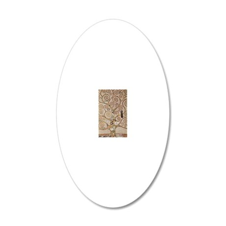 Tree of Life by Gustav Klimt 20x12 Oval Wall Decal