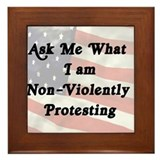 Non-Violent Protesting Framed Tile