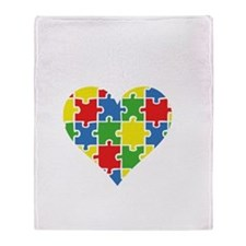 autismAwarenPuzz5B Throw Blanket