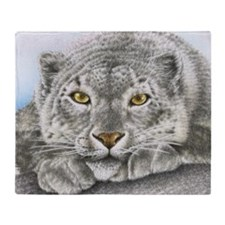 Snow Leopard Pillow Case Throw Blanket
