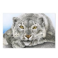 Snow Leopard Pillow Case Postcards (Package of 8)