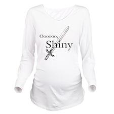 Oooo, Shiny Long Sleeve Maternity T-Shirt
