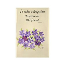 Poetry of an Old Friend Rectangle Magnet