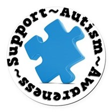 Support Autism Round Car Magnet