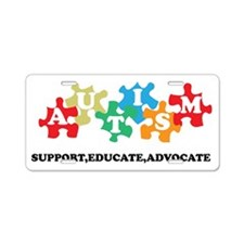 Support Autism Aluminum License Plate