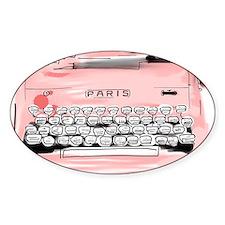 Paris Typewriter  Decal