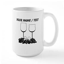 Custom Wine Glasses Mugs