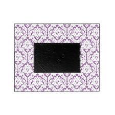 Lilac Violet Damask Picture Frame