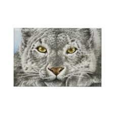 Snow Leopard King Duvet Rectangle Magnet