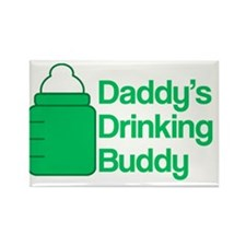 Daddys Drinking Buddy Rectangle Magnet