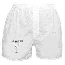 Custom White Wine Glass Boxer Shorts