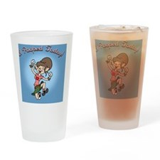 i-poop-fem-TIL Drinking Glass