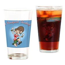 i-poop-fem-PLLO Drinking Glass
