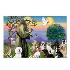 1 - 8x10-StFrancis-10dogs Postcards (Package of 8)